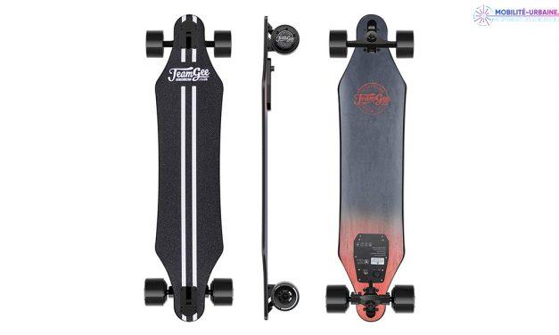 Test du Skate électrique H5 de chez Teamgee